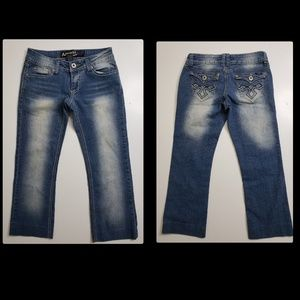 angels woman  denim casual jeans cropped